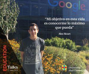 Evento Educativo EDUCATION Talks Alex Sicart