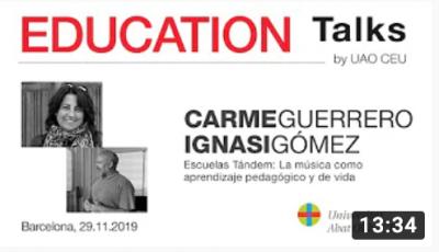 Arte y Educacion - Carme Guerrero Ignasi Gomez - Education Talks-Emotuner